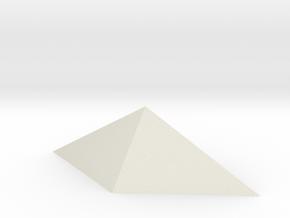Durandal gem, hollow in White Natural Versatile Plastic: Medium