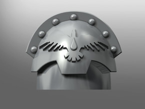 Honoris pattern shoulder pads: Blood Magpies in Smooth Fine Detail Plastic: Small