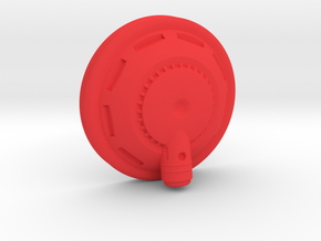 Right Cyborg Ear in Red Processed Versatile Plastic