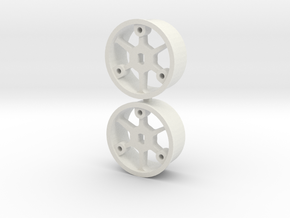 "4WD - ""No glue !"" - Ø19,5mm / 0 in White Natural Versatile Plastic"