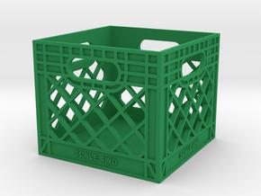 Milk Crate 1:12 Scale in Green Processed Versatile Plastic