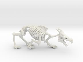 Dracolich Undead dragon DnD miniature games rpg in White Natural Versatile Plastic