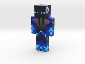 Enderman_Blue_Skin | Minecraft toy in Natural Full Color Sandstone
