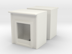 Fireplace (x2) 1/100 in White Natural Versatile Plastic