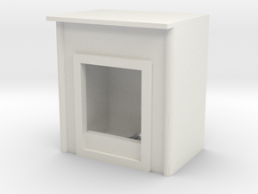 Fireplace 1/43 in White Natural Versatile Plastic