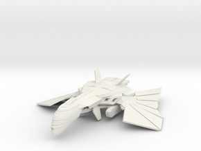 Romulan Corewind Class Destroyer WarBird in White Natural Versatile Plastic