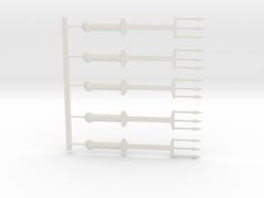 Triden Set in White Natural Versatile Plastic