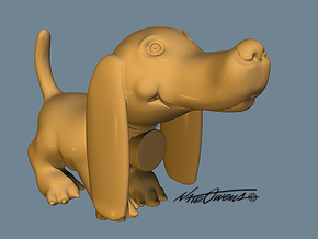 Doxie: Cute Pup in Sandstone