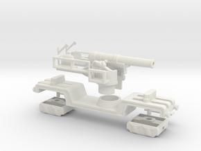BL 12 inch howitzer Mk V 1/76 railway howitzer gun in White Natural Versatile Plastic