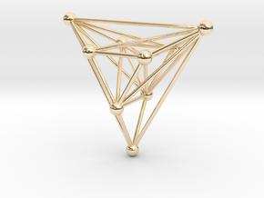 triangular atom array in 14k Gold Plated Brass