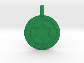 ANAHATA HEART Chakra Symbol Pendant in Green Processed Versatile Plastic