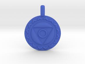 VISHUDDHA Throat Chakra Symbol Pendant  in Blue Processed Versatile Plastic