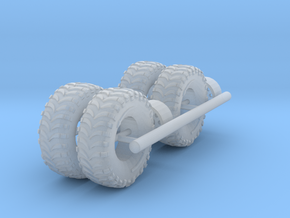 15x5mm offroad wheels 1:64 1:72 in Smoothest Fine Detail Plastic