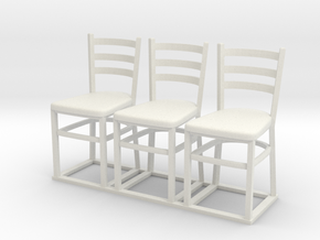 Chair 07. 1:12 Scale in White Natural Versatile Plastic