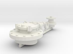 7mm TTA Caustic Soda tank hatch spur in White Natural Versatile Plastic