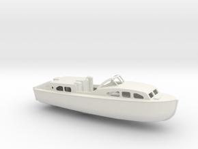 1/128 Scale 40 ft Rescue Boat Mk 1 USN in White Natural Versatile Plastic