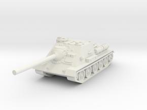 SU-100 tank 1/76 in White Natural Versatile Plastic