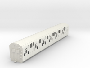 0-87-bulleid-dd-emu-trailer-coach in White Natural Versatile Plastic