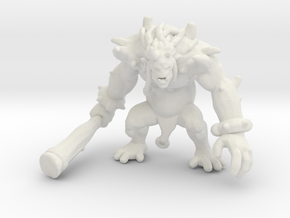 Ogre Chieftain DnD miniature games rpg orc monster in White Natural Versatile Plastic