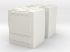Stove (x2) 1/87 in White Natural Versatile Plastic