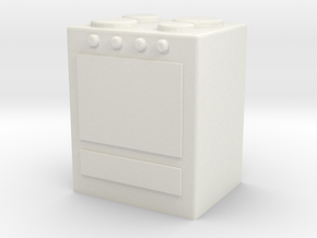 Stove 1/43 in White Natural Versatile Plastic