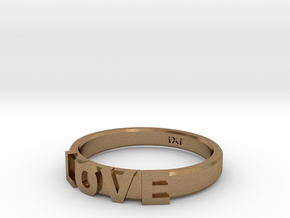 Love Ring - iXi Design - Size 4 in Natural Brass
