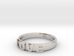 Love Ring - iXi Design - Size 4 in Platinum