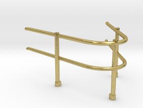 "1/48 USN Fletcher Roof Railing 3 ""Round Bridge"" v1 in Natural Brass"