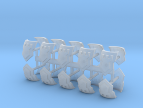 Rook shoulder pad icons x20 #2 in Smooth Fine Detail Plastic