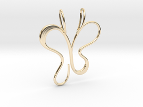 butterfly_V2.1.2 in 14K Yellow Gold