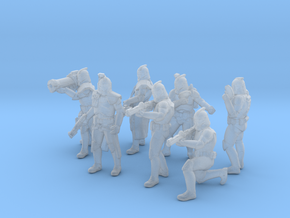 7x 28mm Clone Troopers in Smooth Fine Detail Plastic