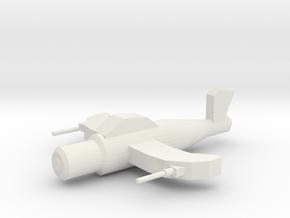 Star Fighter in White Natural Versatile Plastic