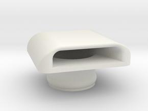 Kawasaki X2 Hood Scoop (Starboard/Forward) in White Natural Versatile Plastic