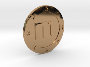 Memorycoin real coin in Polished Brass