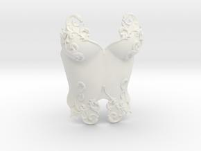 Romantic Breastplate in White Natural Versatile Plastic
