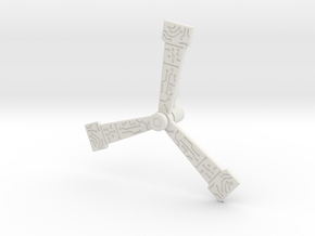 Ironworks Windmill (5mm) in White Natural Versatile Plastic