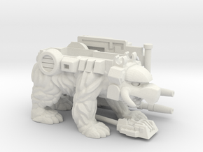 Chainclaw PotP Shell, Helmeted in White Natural Versatile Plastic: Large