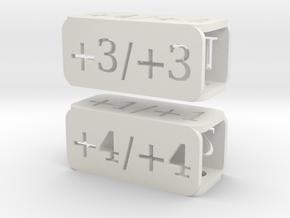 Counters for Magic MTG x2 in White Natural Versatile Plastic