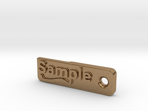 Material Sample - Sample Stand (ALL MATERIALS) in Natural Brass