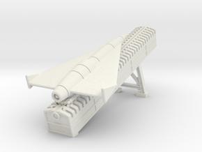 (1:144) Horten Supersonic Missile On Ramp in White Natural Versatile Plastic