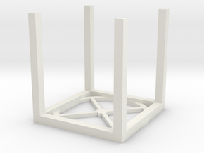 1/64 scale, Overhead Bin Stand. part 3 of 3. in White Natural Versatile Plastic