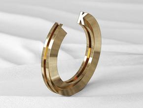K Ring in Natural Bronze: 6 / 51.5