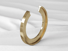 T Ring in Natural Bronze: 6 / 51.5