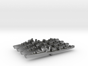 4pk T class British Destroyers 1:3000 WW2 in Natural Silver