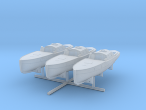 1/350 DKM 11m Admiral's Gig Set x3 in Smooth Fine Detail Plastic