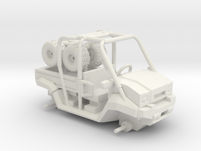 Mule Long Bed 2 Seater 1/64 Scale in White Natural Versatile Plastic