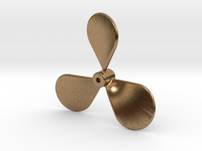 Boat propeller keychain in Natural Brass