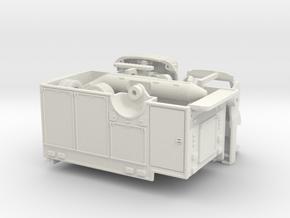 1/87 Medium Duty Rescue w/ Boat and Crane in White Natural Versatile Plastic