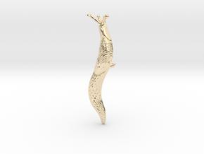 Slug Lapel Pin - Science Jewelry in 14k Gold Plated Brass