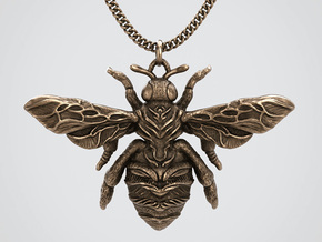 The Mystical Bee - Pendant in Natural Bronze: Small